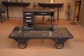 rustic metal coffee table french vintage industrial grate coffee table with loop feet sold
