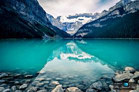 Banff National Park Map The Marvelous Crystal Blue Lake Louise At Banff National Park In