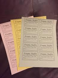 raffle ticket printing paper diaper raffle tickets