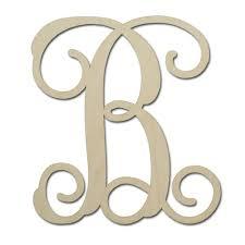 12 unfinished mdf monogram letter b