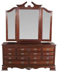 makeup dressers solid mahogany 7 drawer chest vanity dresser w 3 beveled mirrors