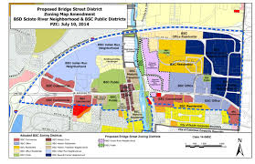 City Of Riverside Zoning Map Dublin Ohio Usa Bridge Street District U2013 Scioto River