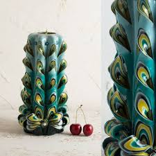 themed candles 52 captivating peacock home decor accessories