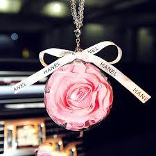 shop 1pc immortal flower car mirror hanger ornament