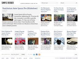 simplereader u2013 a clean newspaper theme wphub