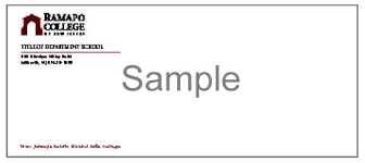 Standard Business Card Format Stationery Design Standard Ramapo College Of New Jersey
