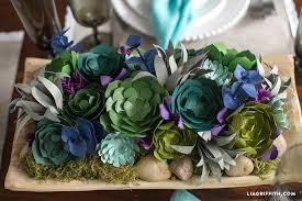 pretty paper succulent centerpiece lia griffith