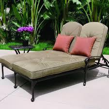 darlee elisabeth 2 piece cast aluminum patio double chaise lounge