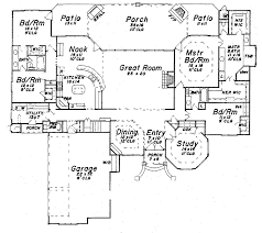One Level Luxury House Plans Single Story Luxury Home Floor Plans