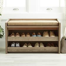 Entryway Storage Bench With Coat Rack Storage Bench Rustic Driftwood Mercer Storage Bench The