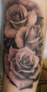 great black and gray roses tattoo tattooimages biz tattoos