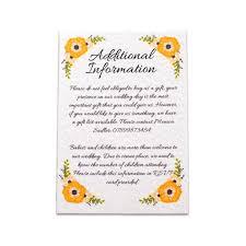 Wedding Invitation Information Card Yellow Sunshine Wedding Invite All Ways Design Invitations
