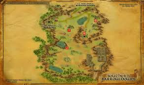 Barrows Map Haudh Iarchith The Barrows Of Bree Land Custom Page Custom