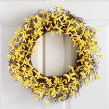 forsythia wreath yellow faux forsythia wreath world market