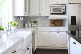 white kitchen cabinets with farm sink farmhouse kitchen renovation from dated to gorgeous