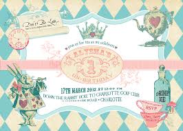 alice in wonderland 1st birthday invitations alanarasbach com