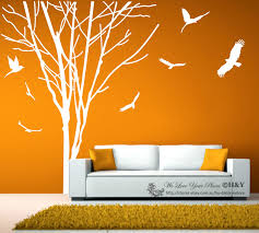 giant tree branch trunk wall art stickers removable vinyl decal received package 1 sheet wall sticker as typsetting size including tree with 7 birds or words outer mailing tube liner tube stachels