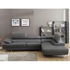 canapé grand axe design canapé grand angle en cuir avec têtières réglables