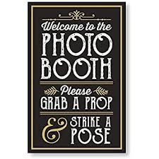 1 pc photo booth sign grab a prop and strike a pose