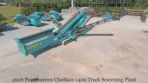 2016 powerscreen chieftain 1400 track screening plant youtube