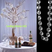 Party Chandelier Decoration by 33 Ft Diy Octagonal Plastic Crystal Beaded Garland Strands Chains