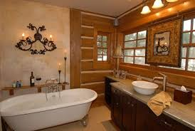 bathroom modern master bathroom design with rustic decoration