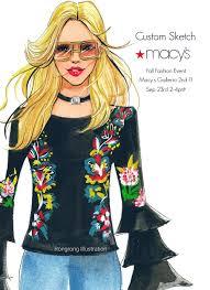 live sketch at macy u0027s fall fashion event u2014 fashion and beauty