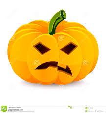 halloween pumpkin angry jack o u0027 lantern on a stock vector image