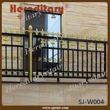 garden security black and gold paint ornamental simple cheap fence