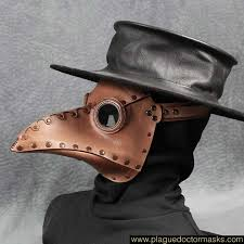 plague doctor hat plague doctor mask brown leather plague doctor costume