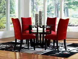 sweet inspiration red dining chairs red dining room chairs