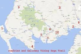 Viking Map Greengalloway Dumfries And Galloway Viking Saga Trail