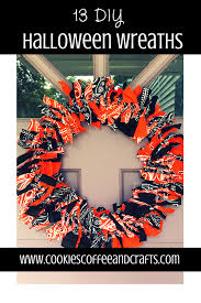 Diy Halloween Wreath Ideas by Jenny Sparmo Cookies Coffee And Crafts