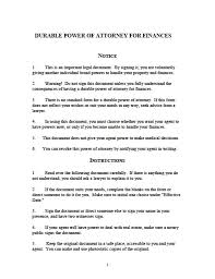 Ordinary Power Of Attorney Template by General Power Of Attorney Form With Successor Revocable Living