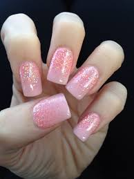 pink glitter faded on my nails nail designs pinterest pink