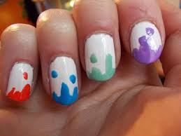 colorful acrylic nail designs making the colorful nail designs