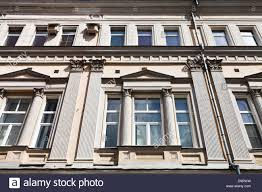 Facade Of House In Style Of Moscow Empire Of The 19th Century