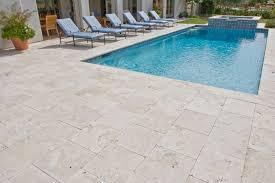 beautiful travertine pavers for patio and garden design ideas