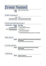 sample resume free resume sample resume format doc file free