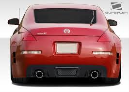 red nissan 350z free shipping on duraflex 03 08 nissan 350z c speed rear bumper