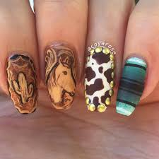 hand painted western nails nail art by coyarose pinterest