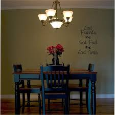 wall decals for dining room amazon com good friends good food good times wall saying vinyl