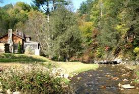 Cottages In Boone Nc by Authentic Log Cabin 21 Acres Rushing Trou Vrbo