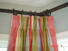 Home Depot Wood Curtain Rods Home Accessories Bay Window Curtain Rod With Modern Sofa