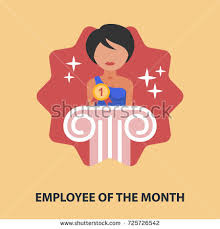 employee month flat concept vector illustration stock vector