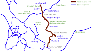 Leicester England Map by Grand Union Canal U2013 Leicester Section Dvds U2013 Waterway Routes