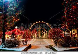 Christmas Town Decorations Outdoor Christmas Decorations At Christmas Town Usa Stock Snímky