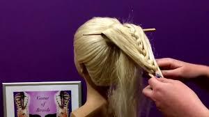 hair plait with chopstick chopstick braid by game of braids youtube