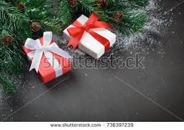 boxes with bows two christmas gift boxes bows on stock photo 737851255