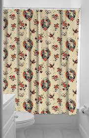 Skull And Crossbones Shower Curtain Shower In A Flash Behind The Sourpuss Lost Love Shower Curtain